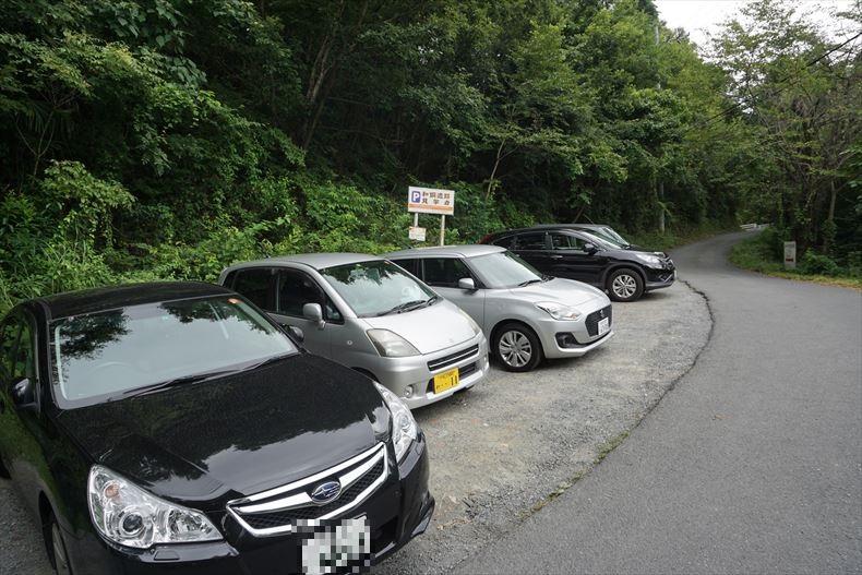 和銅遺跡の駐車場